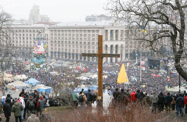 Desalojan ayuntamiento en Ucrania