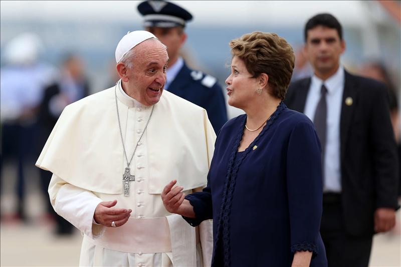 Rousseff invitará al papa Francisco a volver a Brasil para el Mundial