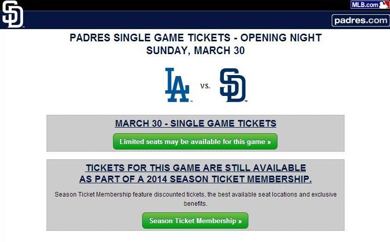 Se agotan los boletos para juego apertura Padres – Dodgers