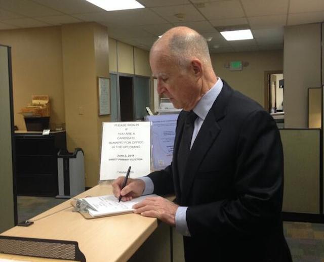Gobernador Jerry Brown buscará reelección