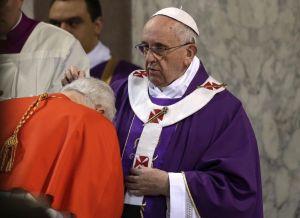 El papa Francisco oficia su primer Miércoles de Ceniza