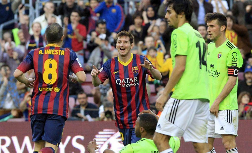 'Hat trick' de Messi en goleada del Barcelona al Osasuna (video)