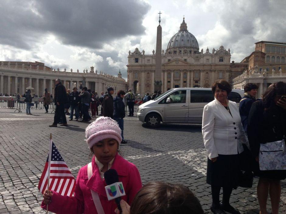 Niña de Los Ángeles pidió ayuda al Papa