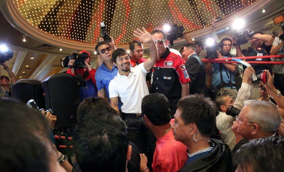 Pacquiao llega a Las Vegas para pelea contra Bradley