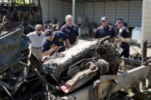 NTSB: Camión cruzó al carril contrario
