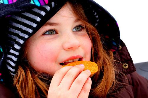 A los niños les encantan las galletas de sabores y formas diferentes.