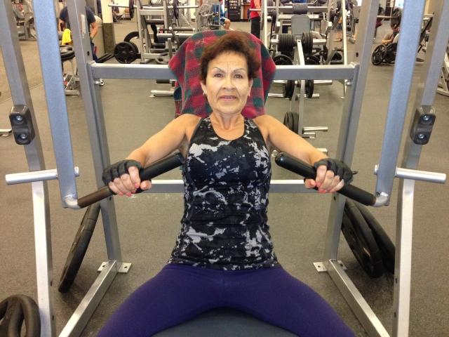 Abuelita de puro músculo