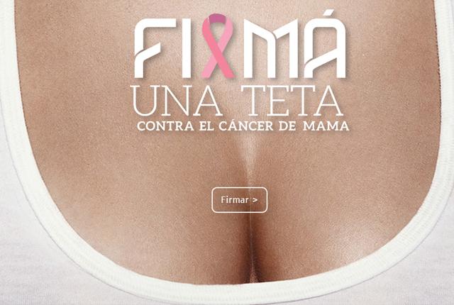 Firma una teta es una iniciativa del Movimiento Ayuda Cáncer de Mama.