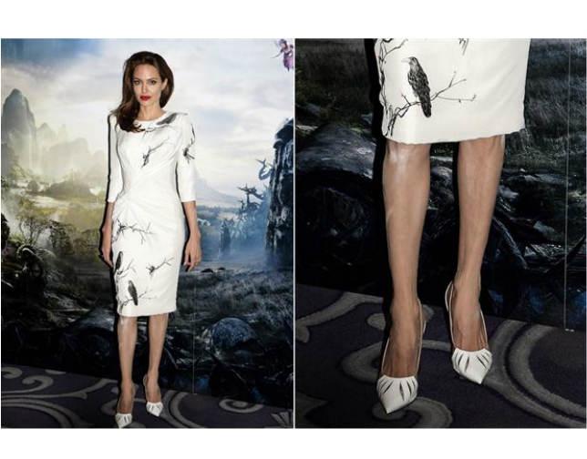 ¿Por qué tenía Angelina Jolie polvo blanco en la pierna?