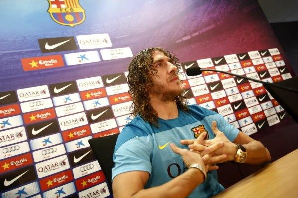 Carles Puyol dice adiós al Barça (Video)
