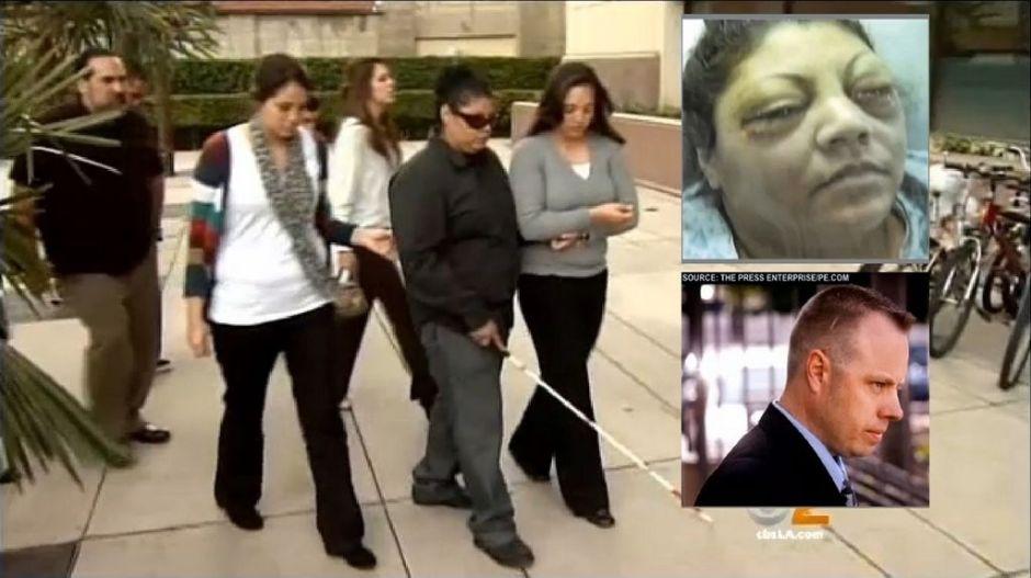 Policía acusado de usar fuerza excesiva luego de que latina quedó ciega