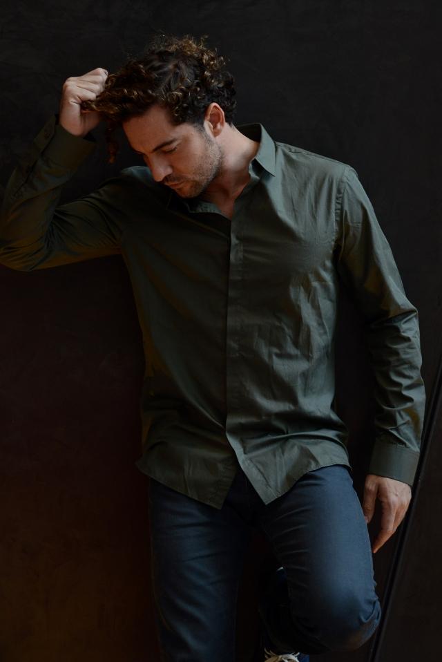 David Bisbal  posó esta semana en Hollywood, donde promociona su nuevo álbum.