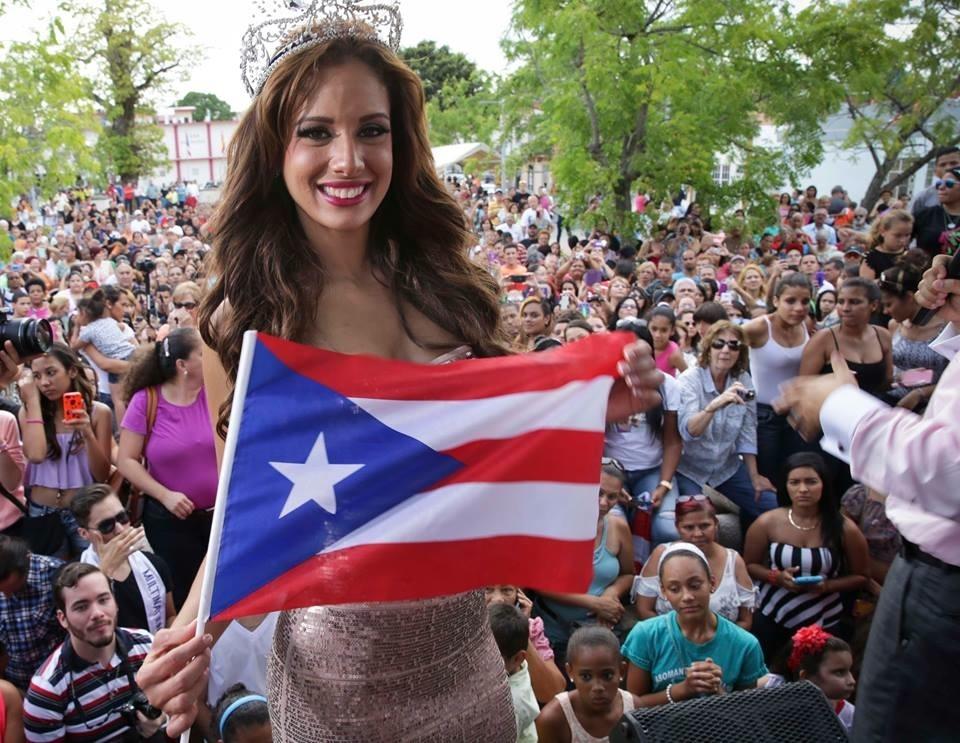Aleyda Ortiz estaba muy contenta de poder compartir su triunfo con su isla.