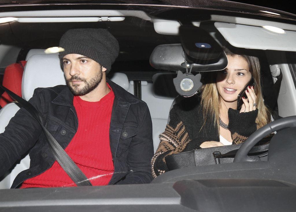 La pareja fue vista a la salida de un restaurante del shopping Palmas del Pilar.