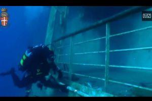Publican video subacuático de los restos del Costa Concordia