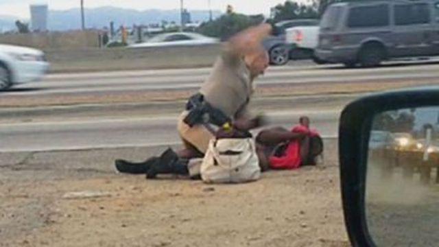 Un conductor grabó el incidente ocurrido a un lado de la autopista 10.