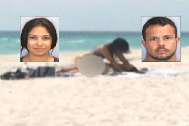 Latinos arrestados por tener relaciones sexuales en playa de Florida (video explícito)