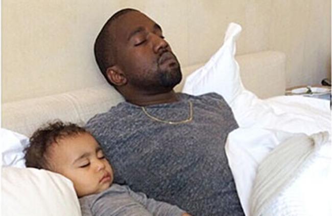 Kanye West vigila a su hija las 24 horas del día