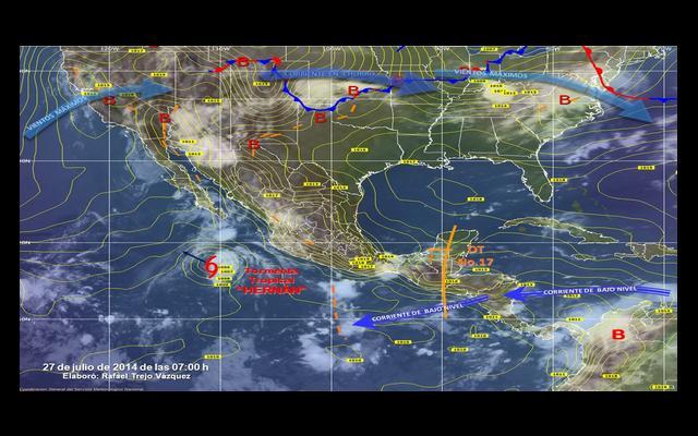Tormenta tropical Hernan toma fuerza en Pacífico mexicano