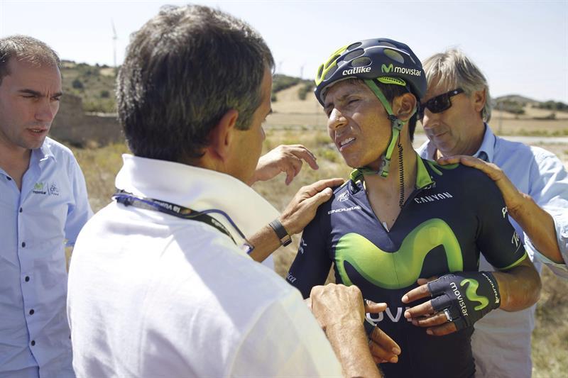 Nairo Quintana abandona la Vuelta a España tras otra caída