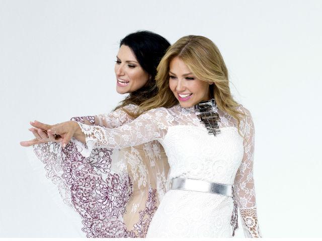 """Thalía y Laura Pausini estrenan el video """"Sino a ti"""""""