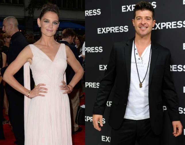 Katie conoció a Robin en 2010 durante el rodaje de Misión Imposible.