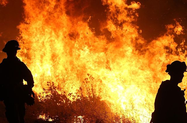 El incendio King puede avivarse con el cambio del clima