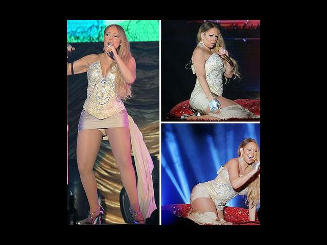 Mariah Carey sufrió una mala pasada con su vestuario