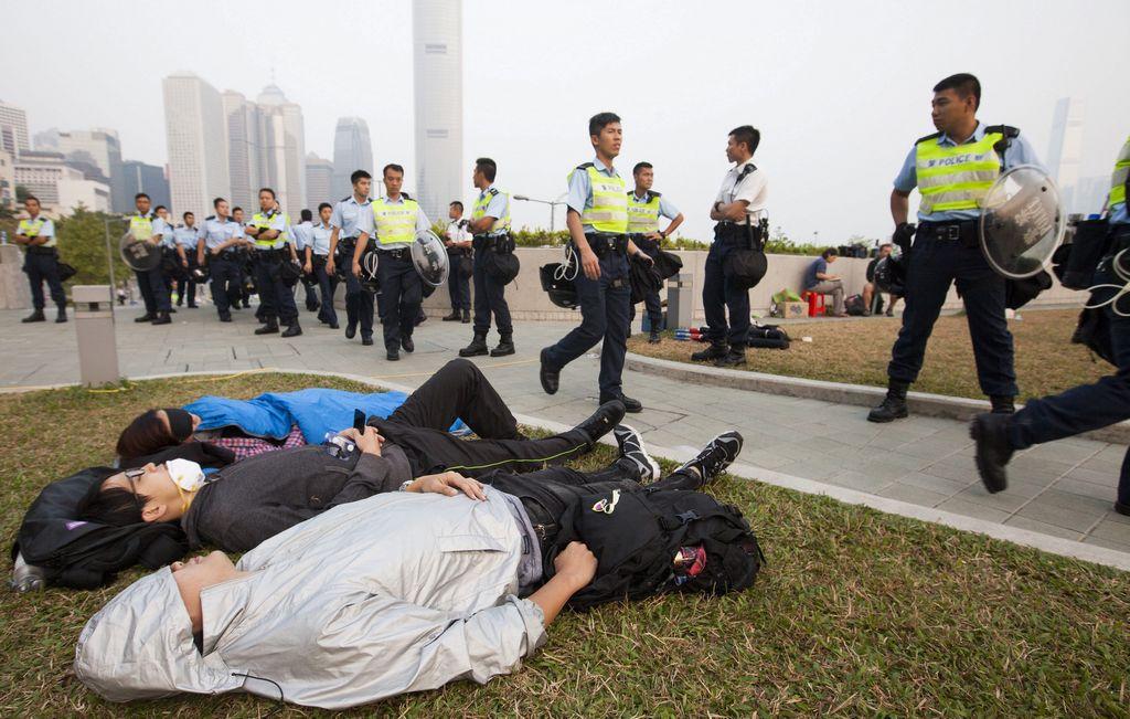 """El movimiento """"Occupy Central"""" intensifica sus movilizaciones."""