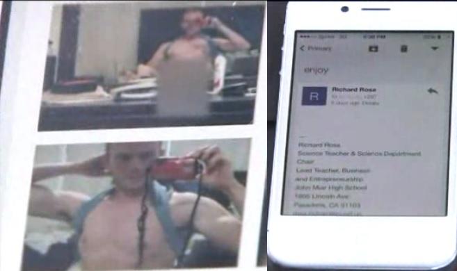 Exnovio manda fotos de maestro desnudo a estudiantes de Pasadena