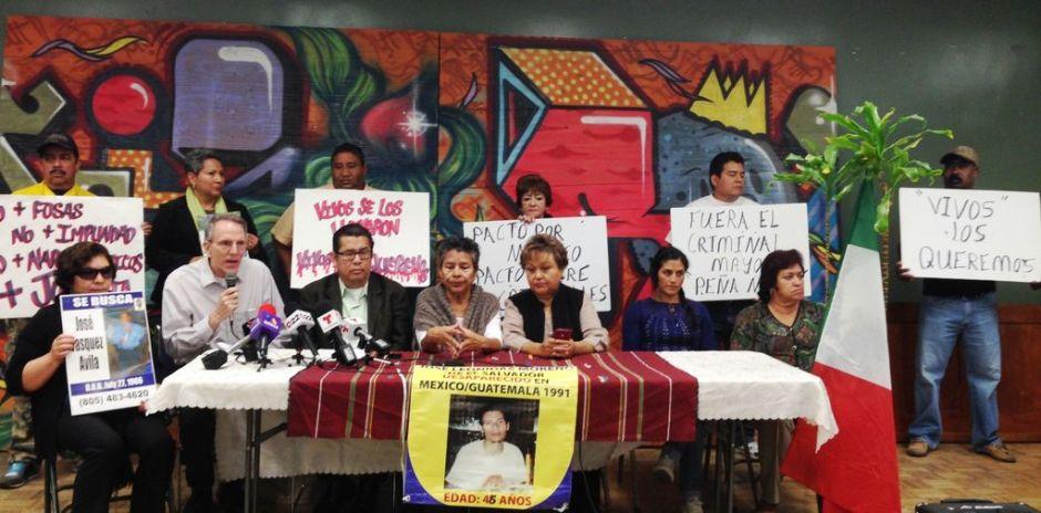 Angelinos claman justicia por familiares desaparecidos en México