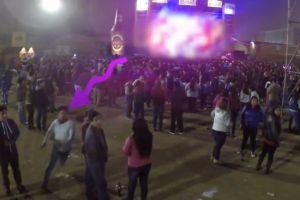 Ebrio atacó dron porque lo grababa en fiesta (video)