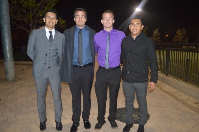 De izquierda a derecha: Jimmy Ross, Shane Shelton, Cody Shelton y Francisco Magaña, todos jugadores de Coras USA.