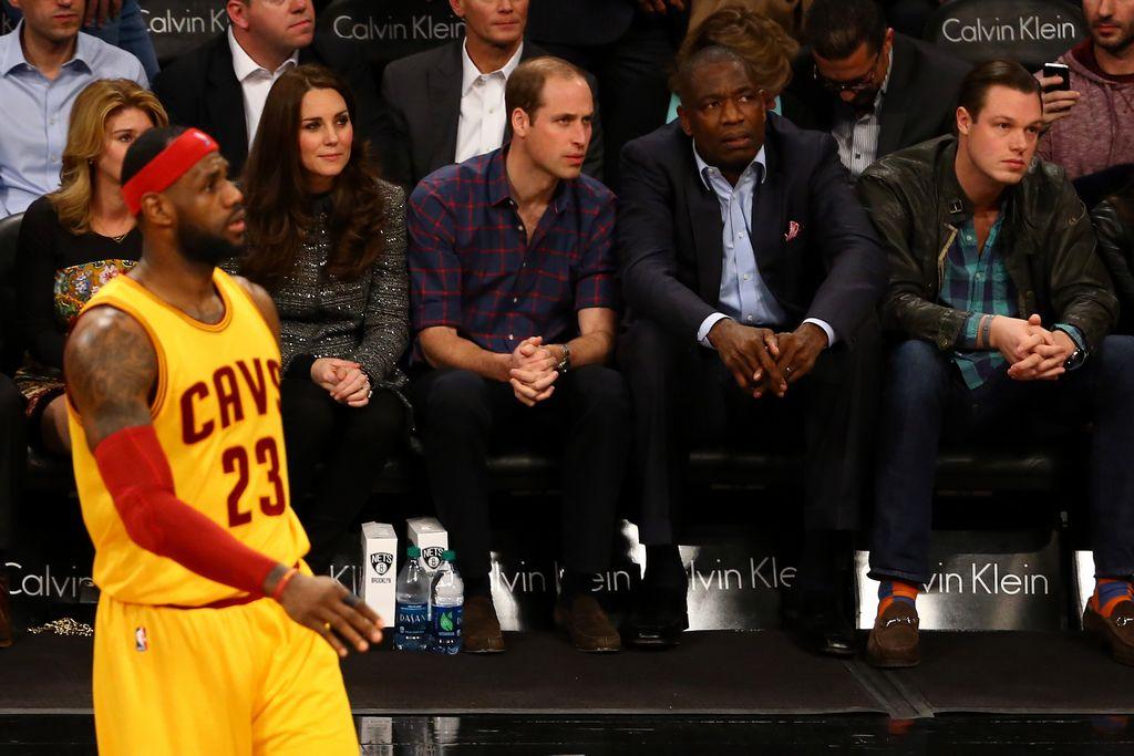 William y Kate le roban el protagonismo a LeBron en el Cavs-Nets