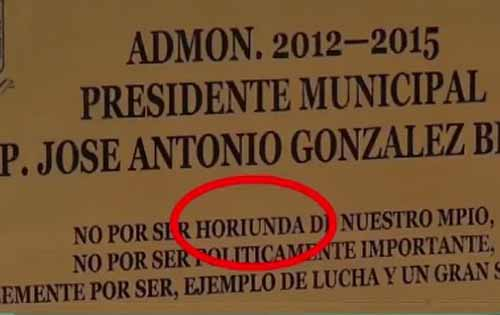 Se equivocaron al escribir la palabra oriunda; la pusieron con 'H'.