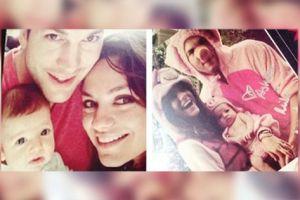 Filtran primeras fotos del bebé de Mila Kunis y Ashton Kutcher