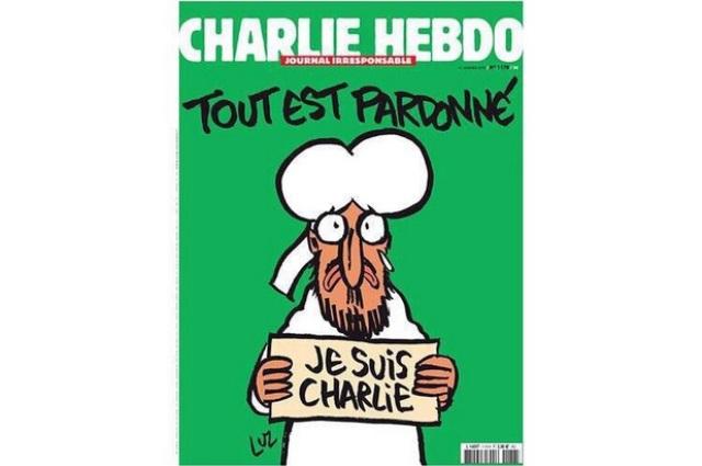 Charlie Hebdo saca portada de Mahoma con cartel de 'Yo soy Charlie'