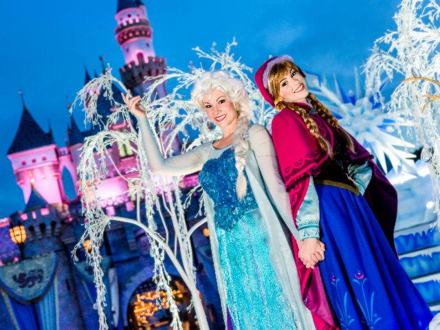 Frozen Fun en Disneyland California.
