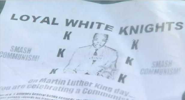 Propaganda del KKK aparece en hogares de Orange