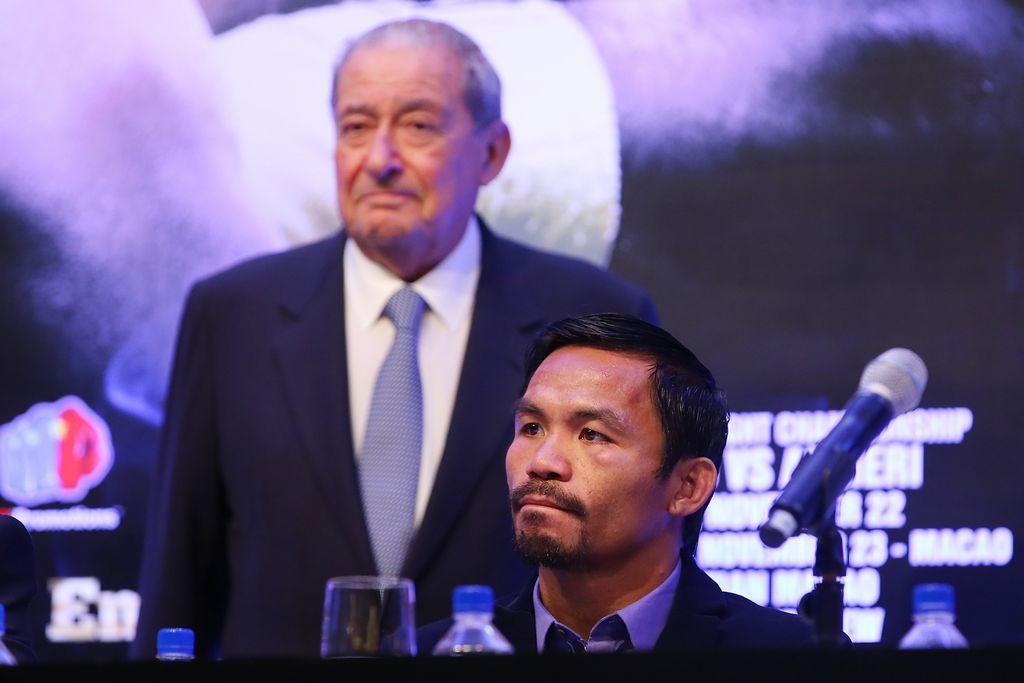 Manny Pacquiao y Bob Arum terminaron su relación laboral hace unos años.