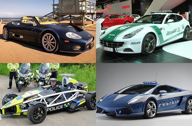 Con estos veloces autos, nada escapa a estos departamentos de policía.
