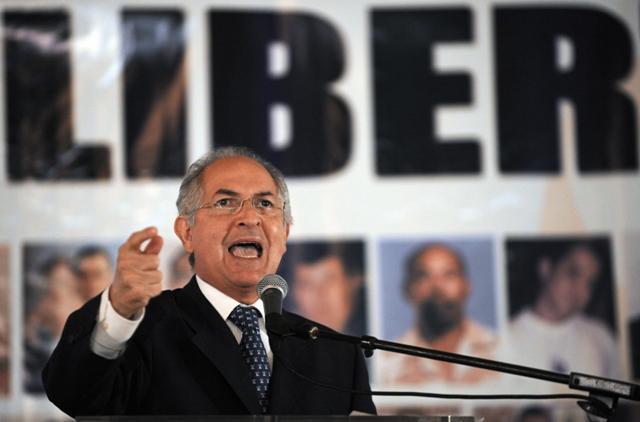 Ledezma es alcalde metropolitano de Caracas desde 2008.