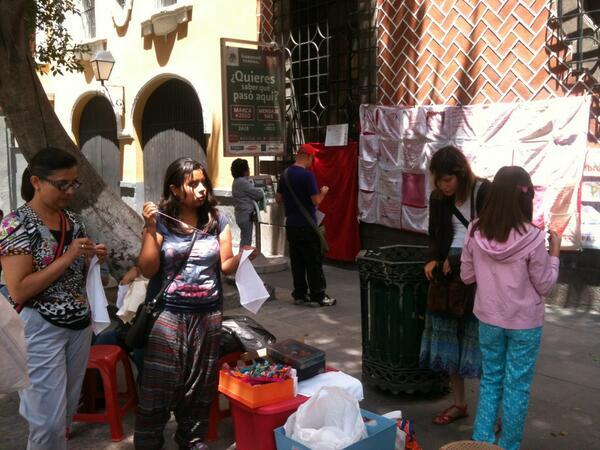 Bordadoras de Puebla, en el estado del mismo nombre, en México