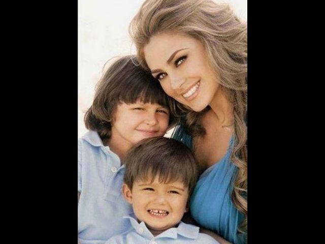 Arámbula quiere que no les hagan bullying a los pequeños Miguel y Daniel.