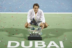 Federer llegó a 9 mil 'aces', derrotó a Djokovic y ganó el torneo de Dubai