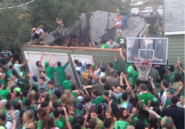 Cuidado, el techo podría colapsar durante tu fiesta de 'St. Patrick's' (video)