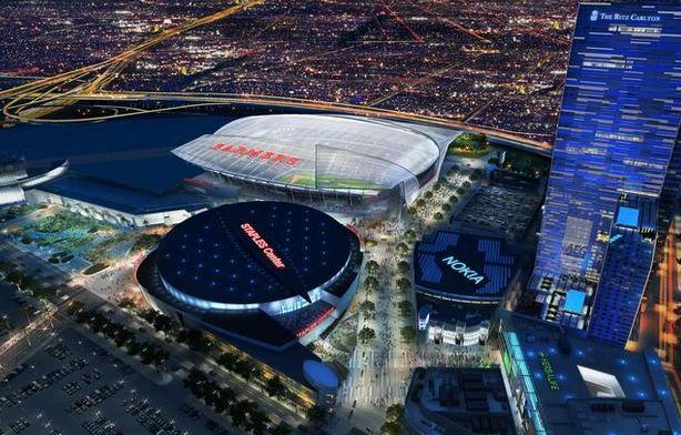 Imagen de la propuesta del Farmers Field en downtown LA.
