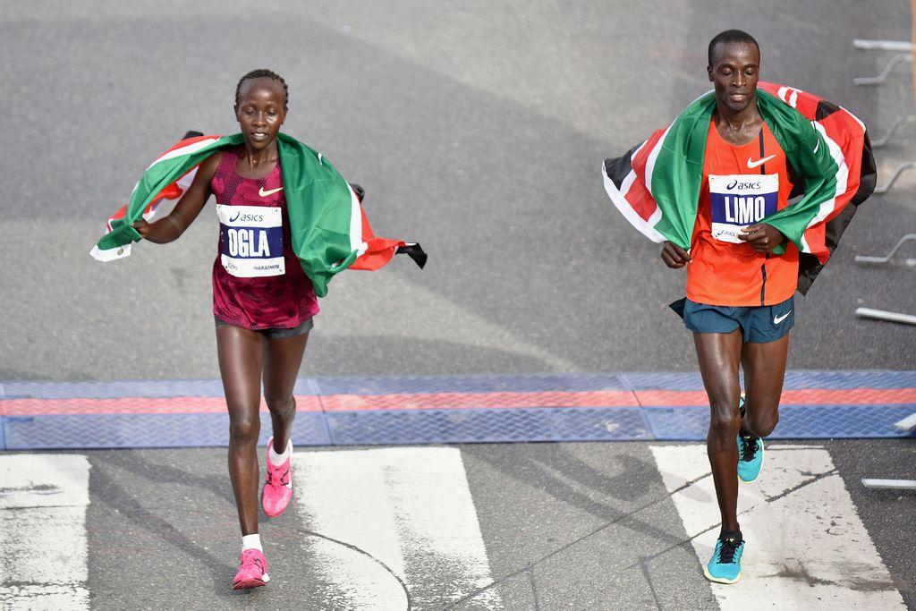 Ogla Kimaiyo y Daniel Limo, corredores de Kenya, triunfaron el domingo en el 30 Maratón de Los Ángeles.