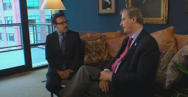 Vicente Fox habló con Univision 41 de Texas