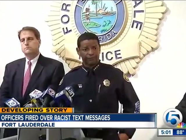 Autoridades de Fort Lauderdale informan del despido de los agentes por racismo.